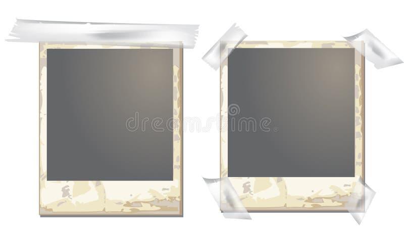 παλαιό polaroid πλαισίων διανυσματική απεικόνιση