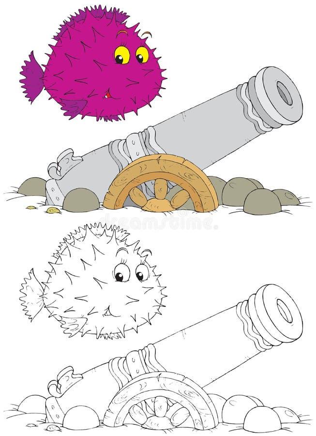 παλαιό porcupine πυροβόλων όπλων ψ&a ελεύθερη απεικόνιση δικαιώματος