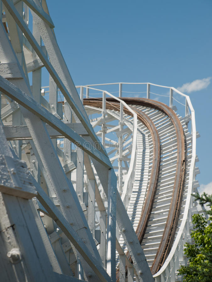 Παλαιό Rollercoaster στοκ φωτογραφίες