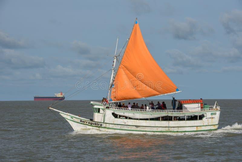 Παλαιό sailboat στο Σάο Luis στη Βραζιλία στοκ φωτογραφία με δικαίωμα ελεύθερης χρήσης
