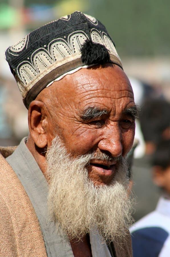 παλαιό uighur ατόμων στοκ εικόνες