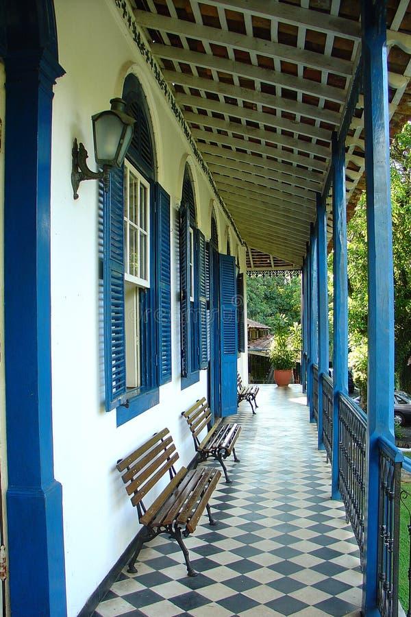 παλαιό varanda αγροτικών σπιτιών στοκ εικόνες