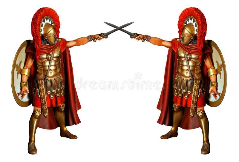 παλεύοντας gladiators ελεύθερη απεικόνιση δικαιώματος