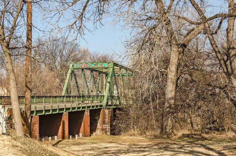 Παλιά γέφυρα Μιλ στο Κάνσας στοκ εικόνες