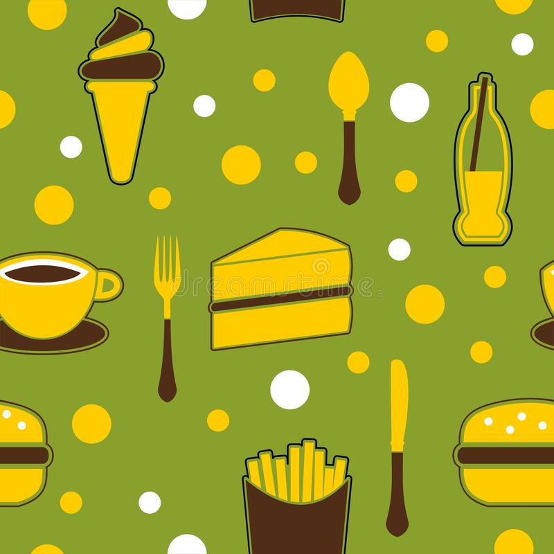 παλιοπράγματα τροφίμων ανασκόπησης άνευ ραφής ελεύθερη απεικόνιση δικαιώματος