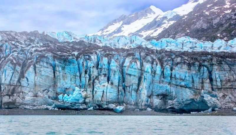 Παλιρροιακό πρόσωπο παγετώνων στο εθνικό πάρκο κόλπων παγετώνων. στοκ εικόνα