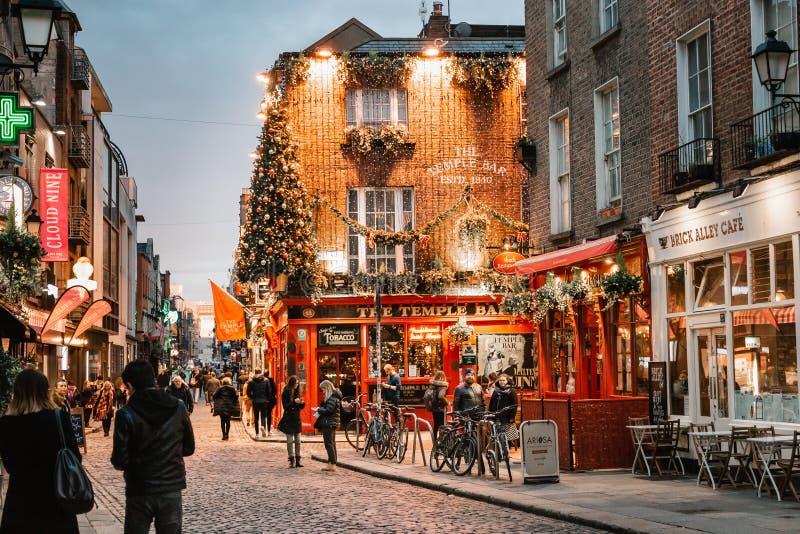 Παμπ Τεμπλ Μπαρ στο Δουβλίνο στοκ εικόνες