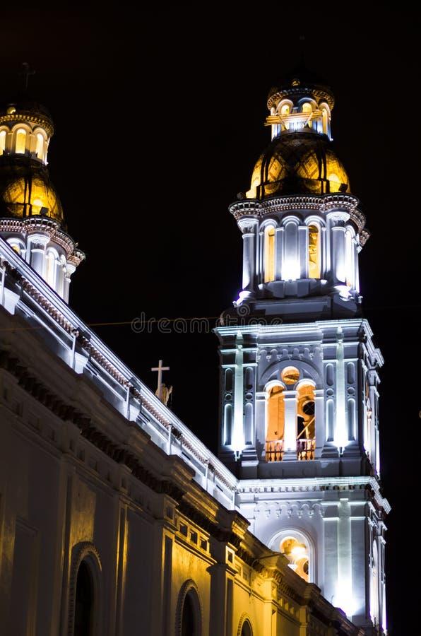 Πανέμορφη αποικιακή εκκλησία τη νύχτα στοκ φωτογραφία με δικαίωμα ελεύθερης χρήσης