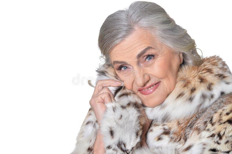 Πανέμορφη ώριμη γυναίκα στοκ εικόνα με δικαίωμα ελεύθερης χρήσης