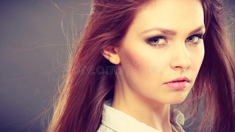 Πανέμορφο κομψό πορτρέτο γυναικών ομορφιάς στοκ εικόνες