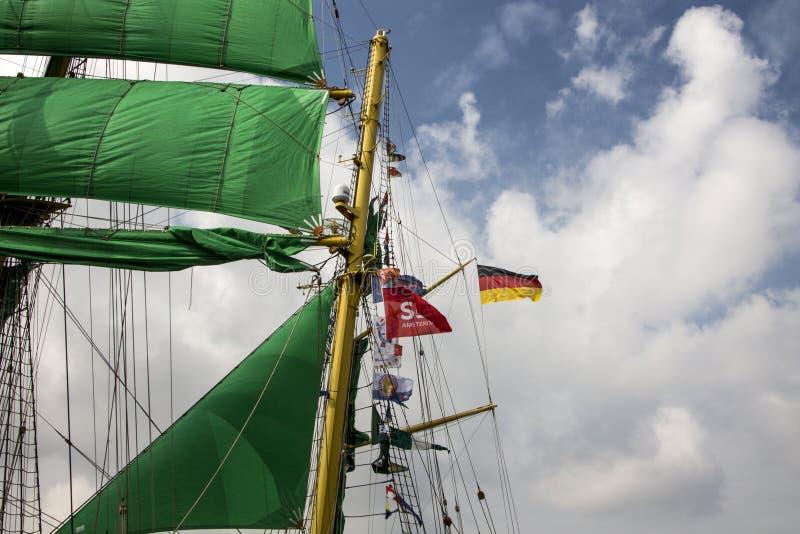 Πανί στο Άμστερνταμ 2015 Αλέξανδρος von Humboldt 2 στοκ φωτογραφία με δικαίωμα ελεύθερης χρήσης