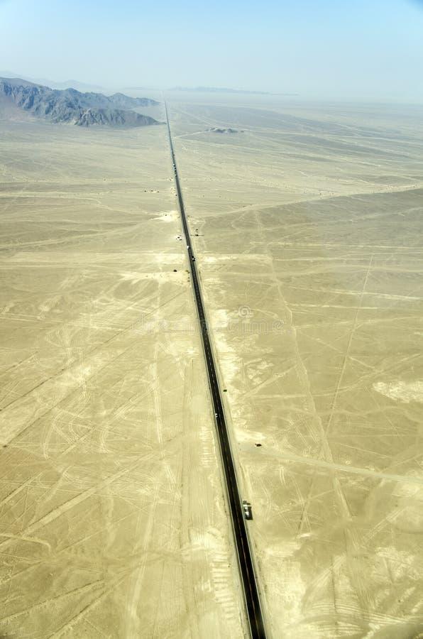 Παναμερικανική εθνική οδός, Nazca, Περού στοκ εικόνα