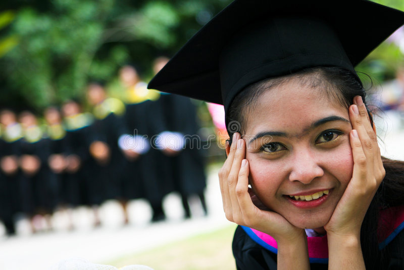 πανεπιστήμιο πτυχιούχων στοκ εικόνες με δικαίωμα ελεύθερης χρήσης