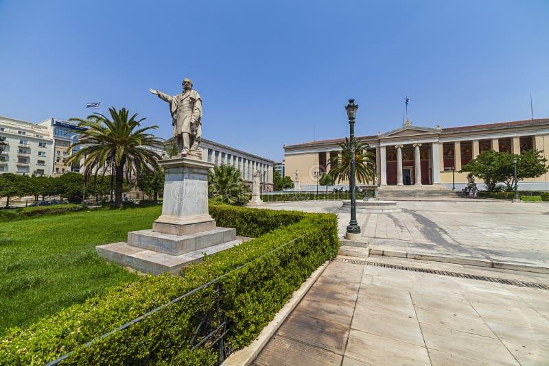 Πανεπιστήμιο της Αθήνας, Ελλάδα στοκ φωτογραφία