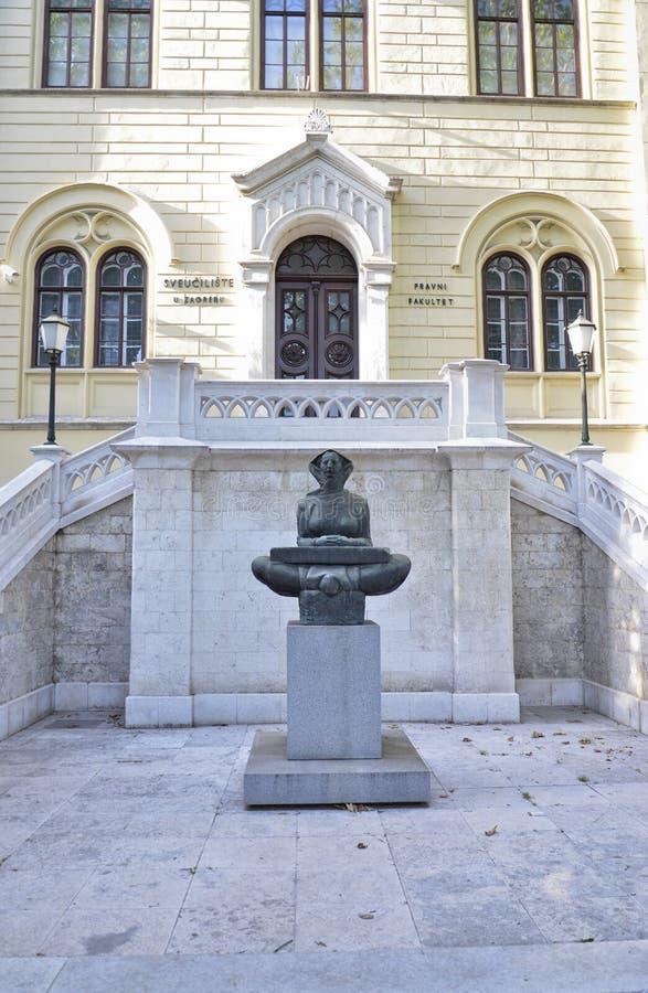 Πανεπιστήμιο του Ζάγκρεμπ στοκ εικόνα με δικαίωμα ελεύθερης χρήσης