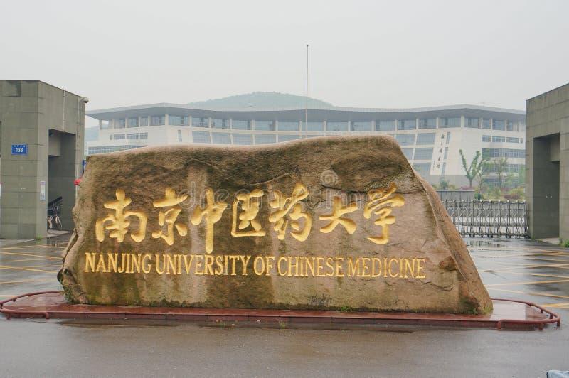 Πανεπιστήμιο του Ναντζίνγκ της κινεζικής ιατρικής στοκ εικόνα