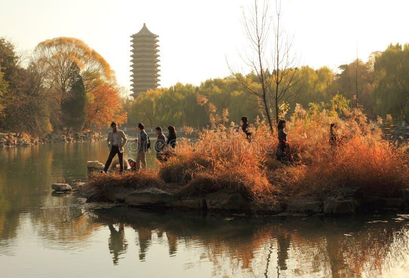 πανεπιστήμιο του Πεκίνο&upsi στοκ φωτογραφία