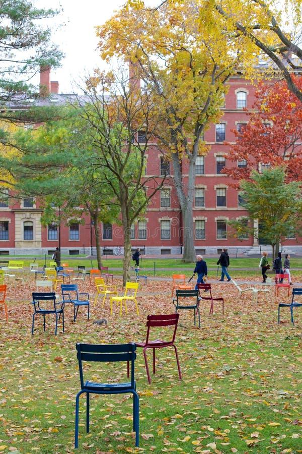 Πανεπιστήμιο του Χάρβαρντ το φθινόπωρο στοκ εικόνες
