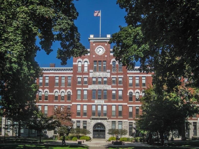 Πανεπιστήμιο του Clark ένα ιδιωτικό ερευνητικό πανεπιστήμιο στο Worcester στοκ εικόνα
