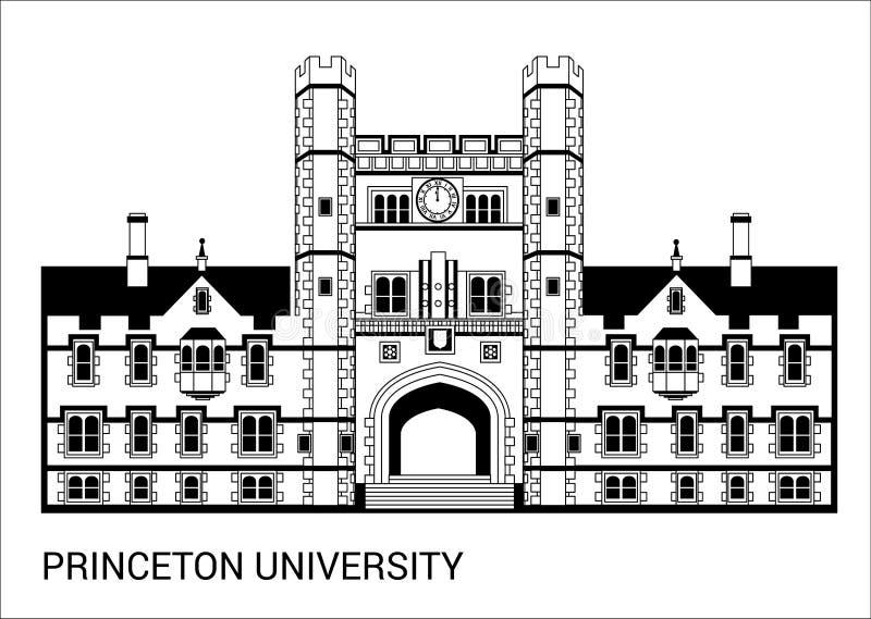Πανεπιστήμιο του Princeton επίσης corel σύρετε το διάνυσμα απεικόνισης διανυσματική απεικόνιση