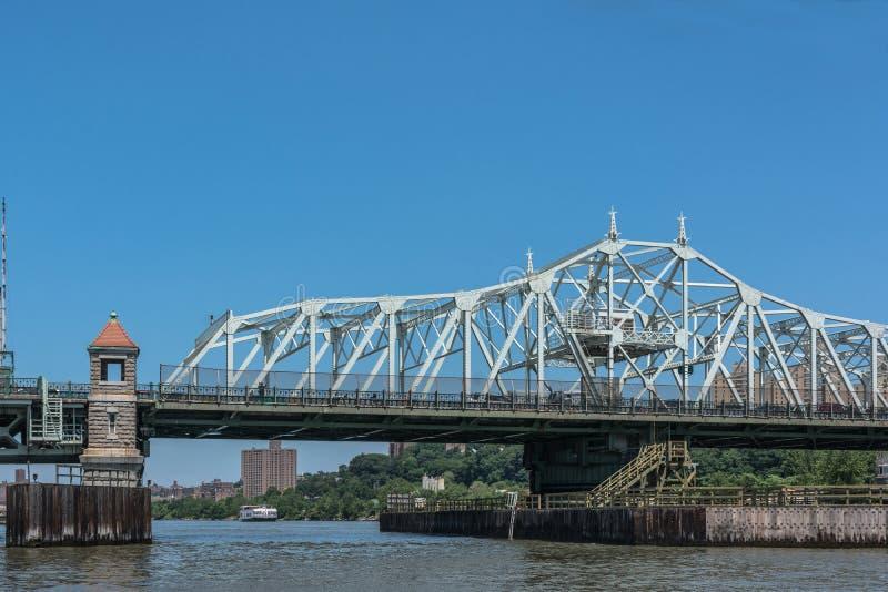 Πανεπιστημιακή γέφυρα υψών πέρα από τον ποταμό Harlem, Μανχάταν, NYC στοκ εικόνα
