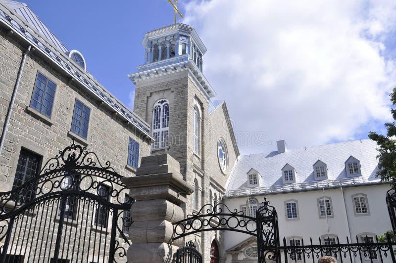Πανεπιστημιακό κτήριο αρχιτεκτονικής Ecole δ ` Laval από την παλαιά πόλη του Κεμπέκ στον Καναδά στοκ εικόνες