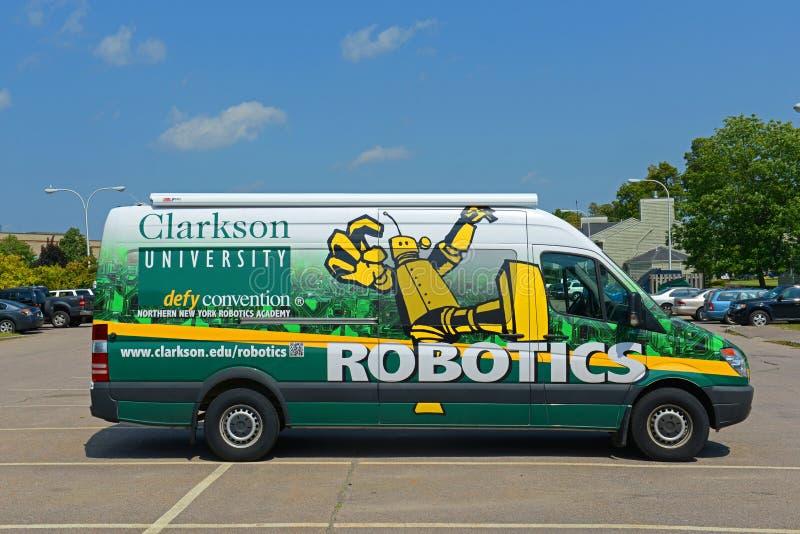 Πανεπιστημιακό φορτηγό ρομποτικής Clarkson, Πότσνταμ, Νέα Υόρκη, ΗΠΑ στοκ φωτογραφίες