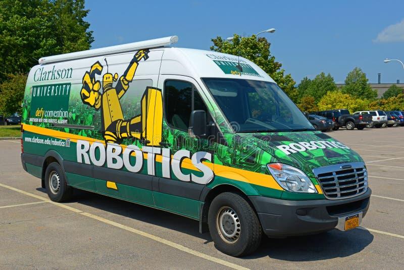 Πανεπιστημιακό φορτηγό ρομποτικής Clarkson, Πότσνταμ, Νέα Υόρκη, ΗΠΑ στοκ εικόνα