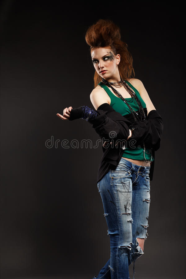 Download πανκ κοριτσιών glam στοκ εικόνες. εικόνα από πράσινος - 17052392