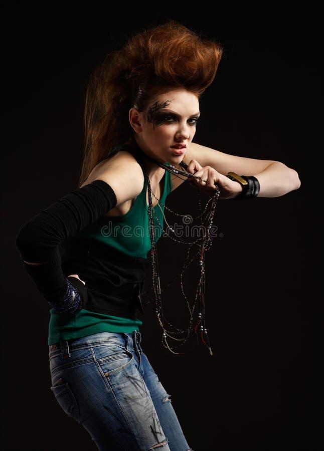 Download πανκ κοριτσιών glam στοκ εικόνα. εικόνα από φακίδες, μοντέλο - 17052403