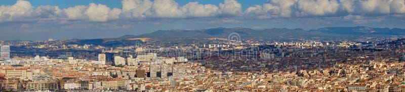 Πανοραμικές απόψεις της Μασσαλίας στοκ φωτογραφία με δικαίωμα ελεύθερης χρήσης