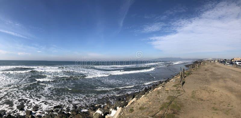 Πανοραμικές απόψεις της ωκεάνιας παραλίας Σαν Φρανσίσκο Καλιφόρνια στοκ φωτογραφία