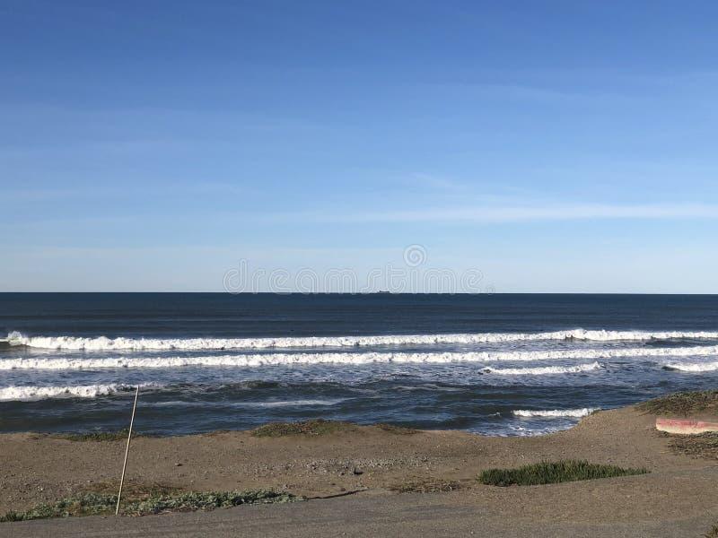 Πανοραμικές απόψεις της ωκεάνιας παραλίας Σαν Φρανσίσκο Καλιφόρνια στοκ φωτογραφίες με δικαίωμα ελεύθερης χρήσης