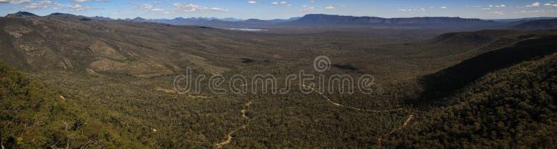 Πανοραμική άποψη από την επιφυλακή του Reid, το Grampians, Βικτώρια, Αυστραλία, στοκ εικόνες