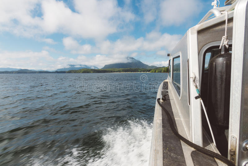 Πανοραμική άποψη από την κίνηση της βάρκας στοκ φωτογραφία