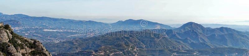 Πανοραμική άποψη από το Μοντσερράτ στοκ φωτογραφία
