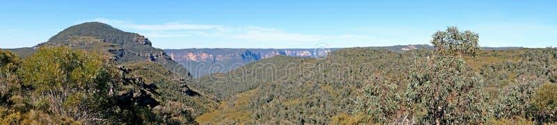 Πανοραμική άποψη για το Εθνικό Πάρκο των Γαλάζιων Βουνών, Katoomba, Νέα Νότια Ουαλία, Αυστραλία στοκ φωτογραφίες