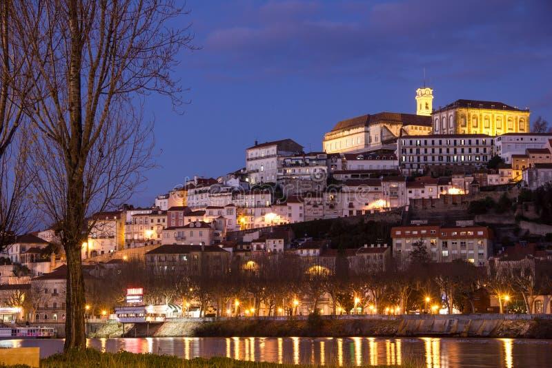 Πανοραμική άποψη και ποταμός Mondego Κοΐμπρα Πορτογαλία στοκ φωτογραφίες με δικαίωμα ελεύθερης χρήσης