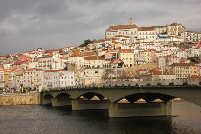 Πανοραμική άποψη. Κοΐμπρα. Πορτογαλία στοκ εικόνες