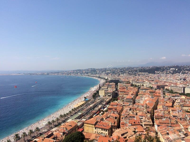 Πανοραμική άποψη πέρα από τη Νίκαια, νότια Γαλλία στοκ εικόνα με δικαίωμα ελεύθερης χρήσης