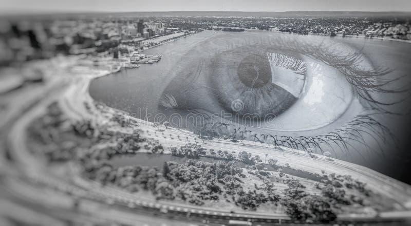 Πανοραμική άποψη πόλεων στοκ φωτογραφία με δικαίωμα ελεύθερης χρήσης