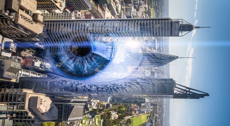 Πανοραμική άποψη πόλεων στοκ φωτογραφίες με δικαίωμα ελεύθερης χρήσης