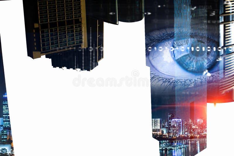 Πανοραμική άποψη πόλεων διανυσματική απεικόνιση