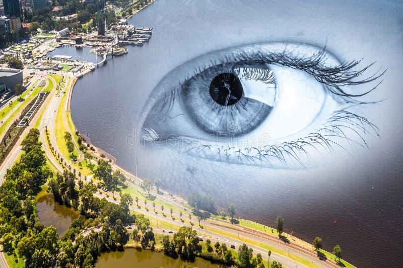 Πανοραμική άποψη πόλεων στοκ εικόνες