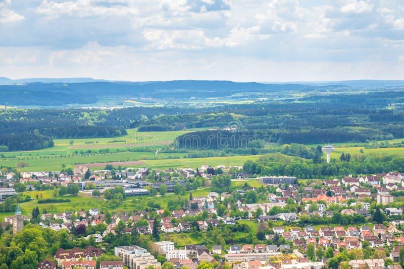 πανοραμική άποψη σε Rottweil Γερμανία στοκ εικόνες