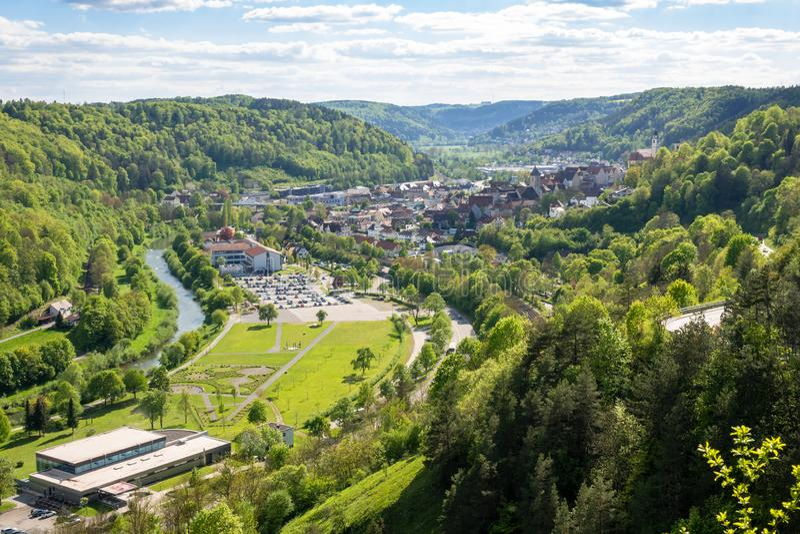 πανοραμική άποψη σε Sulz Γερμανία στοκ εικόνα με δικαίωμα ελεύθερης χρήσης