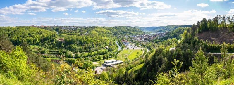 πανοραμική άποψη σε Sulz Γερμανία στοκ εικόνες