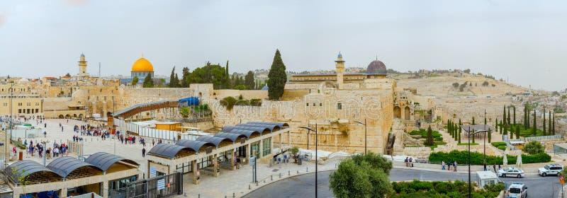 Πανοραμική άποψη στεγών της Ιερουσαλήμ στοκ φωτογραφίες