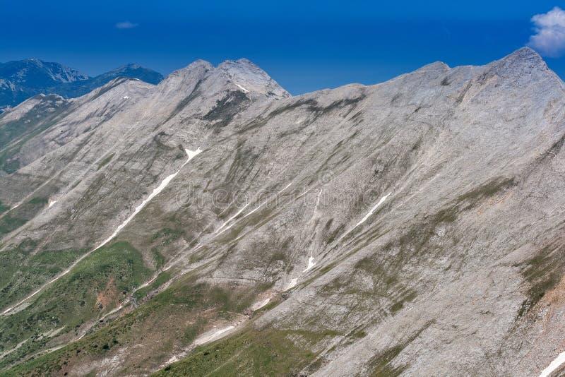 Πανοραμική άποψη στην αιχμή Banski Suhodol και Koncheto, βουνό Pirin στοκ εικόνα με δικαίωμα ελεύθερης χρήσης