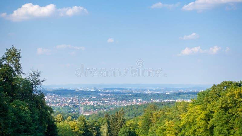 πανοραμική άποψη στη Στουτγάρδη Weilimdorf Γερμανία στοκ φωτογραφίες με δικαίωμα ελεύθερης χρήσης
